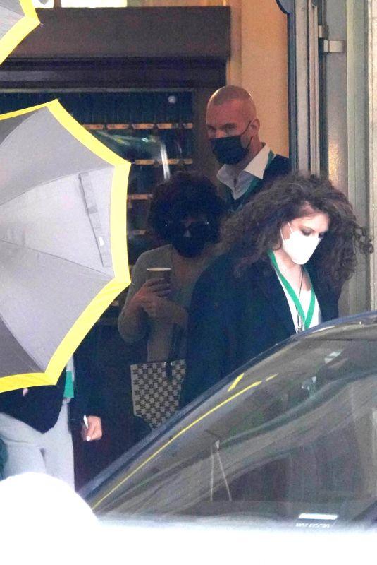 LADY GAGA Leaves Her Hotel in Rome 03/24/2021