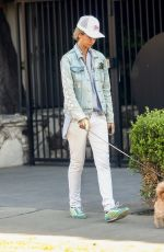 LADY VICTORIA HERVEY Out with Her Dog in Los Angeles 03/01/2021