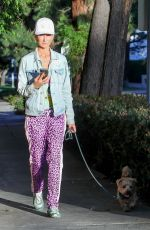 LADY VICTORIA HERVEY Out with Her Dog in West Hollywood 03/02/2021