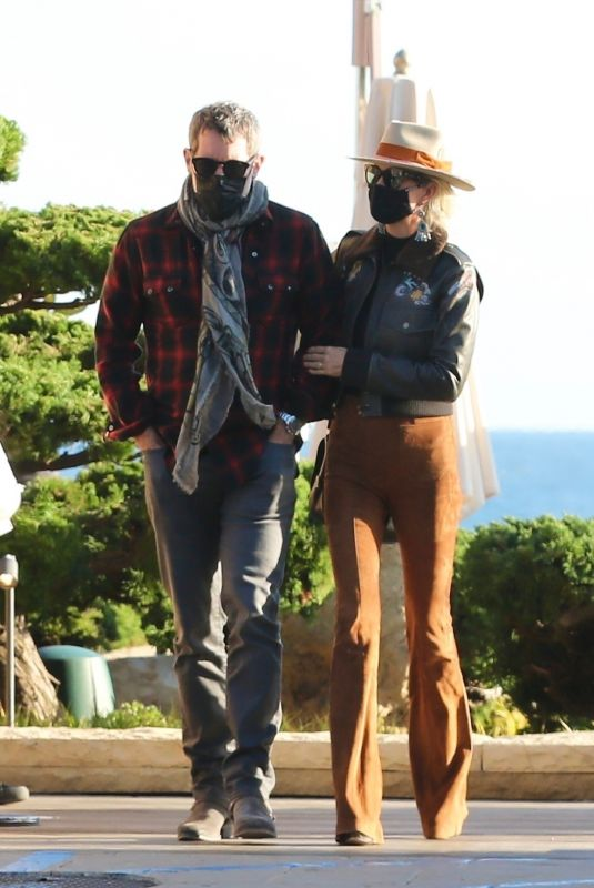 LAETICIA HALLYDAY and Jalil Lespert at Nobu in Malibu 03/04/2021