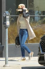 LAETICIA HALLYDAY Out Shopping in Beverly Hills 03/12/2021