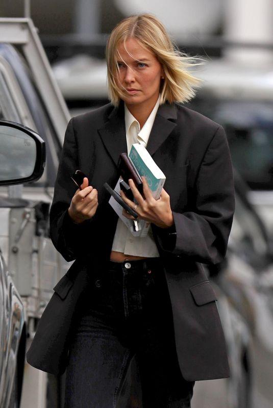 LARA BINGLE Heading to a Meeting in Sydney 03/05/2021