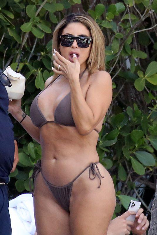 LARSA PIPPEN in Bikini at a Pool in Miami 03/13/2021