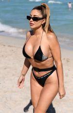 LARSA PIPPEN in Black Bikini Out in Miami Beach 02/27/2021