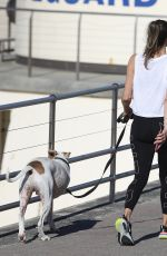 LAURA BYRNE Out with Her Dog in Sydney 03/26/2021