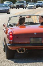 LAUREN SILVERMAN and Simon Cowell Out Driving in Vintage MG Turbo in Malibu 03/17/2021