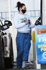 LENA HEADEY at a Gas Station in Los Angeles 03/17/2021