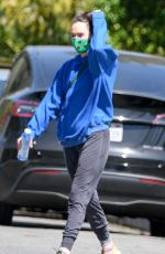 LENA HEADEY Heading to a Gym in Los Angeles 03/26/2021