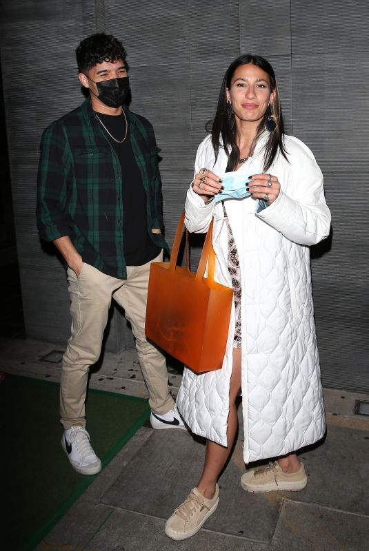 LEXY PANTERRA and Alex Wassabi at Nobu in West Hollywood 03/09/2021