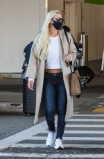 LINDSEY VONN at LAX Airport in Los Angeles 03/29/2021