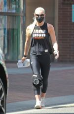 LINDSEY VONN Leaves a Gym in Beverly Hills 03/30/2021