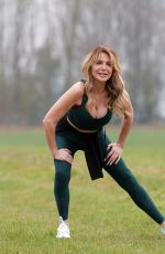 LIZZIE CUNDY Workout at a Park in London 03/03/2021