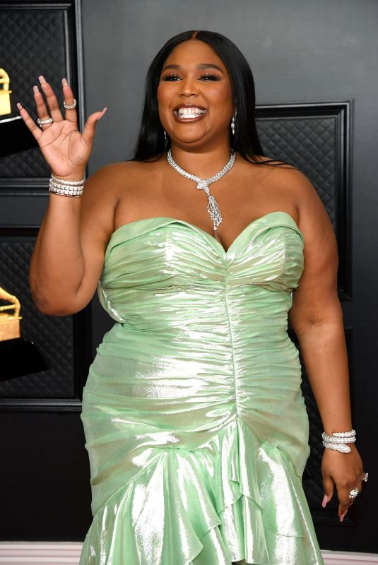 LIZZO at 2021 Grammy Awards in Los Angeles 03/14/2021