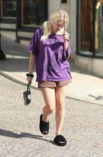 LOTTIE MOSS Out on Rodeo Drive in Beverly Hills 03/30/2021