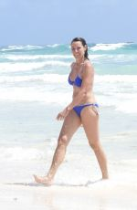 LUANN DE LESSEPS in Bikini at a Beach in Tulum 03/02/2021