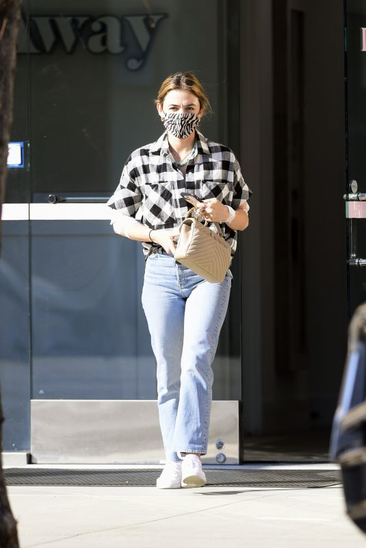 LUCY HALE at Laseraway Clinic in Los Angeles 03/08/2021