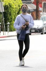 LUCY HALE Leaves a Skincare Clinic in West Hollywood 03/08/2021