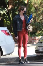 LUCY HALE Out and About in West Hollywood 03/01/2021