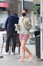 LUCY HALE Out for Caffee at Starbucks in Los Angeles 03/07/2021