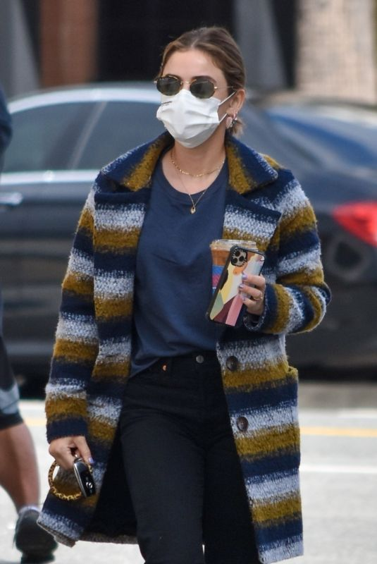 LUCY HALE Out for Coffee in Los Angeles 03/11/2021