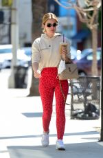 LUCY HALE Out for Morning Coffee in Los Angeles 03/28/2021