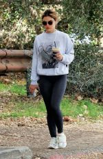 LUCY HALE Out Hiking in Los Angeles 03/08/2021