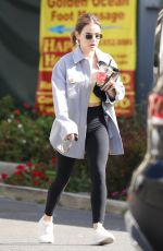 LUCY HALE Shopping at Erewhon Market in Los Angeles 03/09/2021