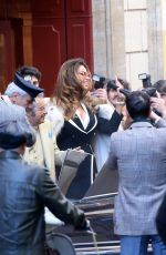 MADALINA GHENEA on the Set of House of Gucci in Rome 03/22/2021