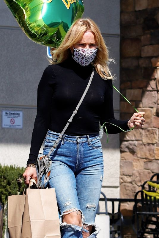 MALIN AKERMAN in Ripped Denim Out in Los Angeles 03/17/2021