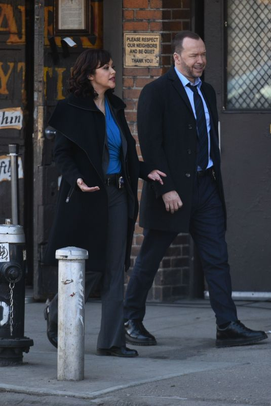 MARISA RAMIREZ on the Set of Blue Bloods in New York 03/12/2021