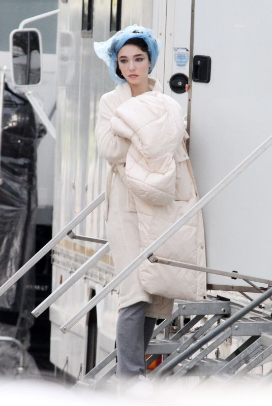 MATILDA DE ANGELIS on the Set of Robbing Mussolini in Rome 03/23/2021