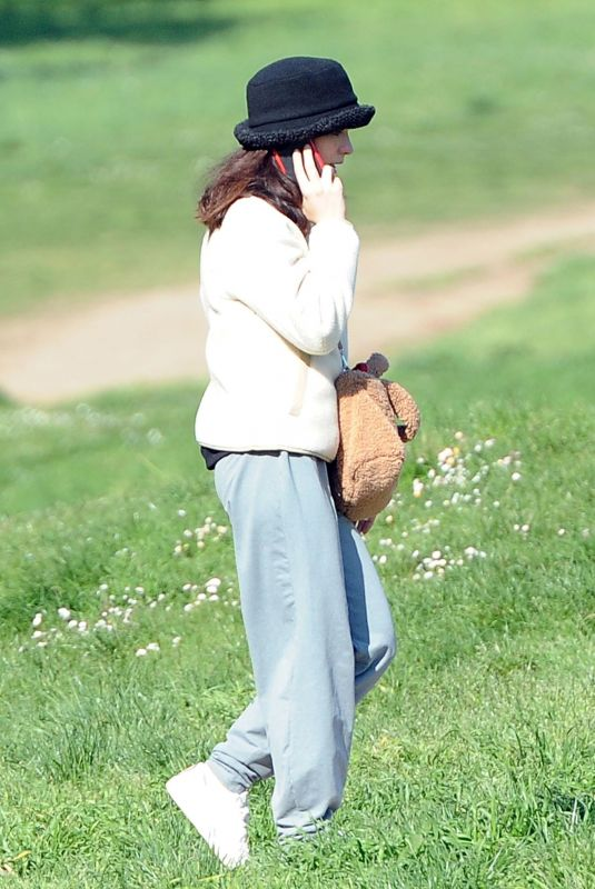 MATILDA DE ANGELSI Out at a Park in Rome 03/21/2021