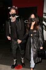 MEGAN FOX and Machine Gun Kelly at Boa Steakhouse in Los Angeles 03/05/2021
