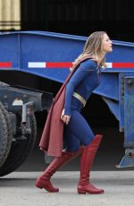 MELISSA BENOIST on the Set of Supergirl in Vancouver 03/05/2021