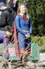 MELISSA BENOIST on the Set of Supergirl in Vancouver 03/29/2021
