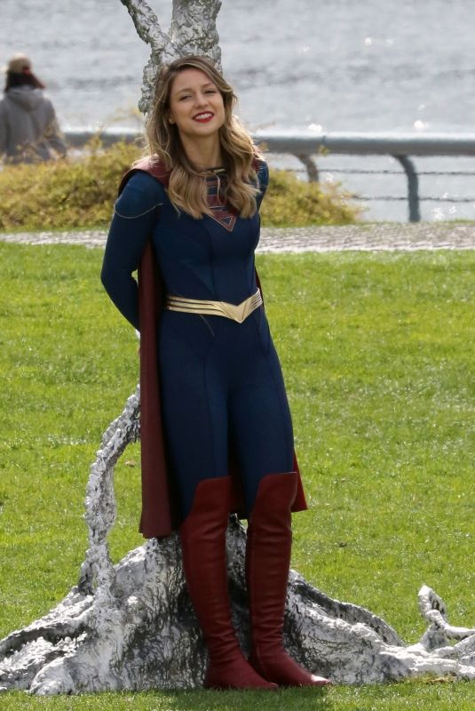 MELISSA BENOIST on the Set of Supergirl in Vancouver 03/30/2021