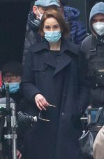 MICHELLE DOCKERY on the Set of Anatomy of a Scandal in London 02/28/2021