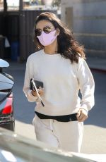 MILA KUNIS Leaves a Skin Care Clinic in West Hollywood 03/19/2021