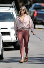 MOLLY SIMS Out with Her Dog in Pacific Palisades 03/18/2021