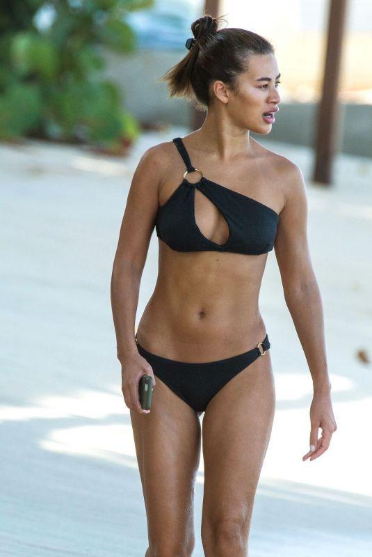 MONTANA BROWN in Bikini at a Beach in Barbados 03/19/2021
