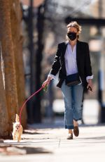 NAOMI WATTS Out with Her Dog in New York 03/30/2021