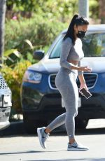 NICOLE SCHERZINGER Leaves a Private Gym in Los Angeles 03/29/2021