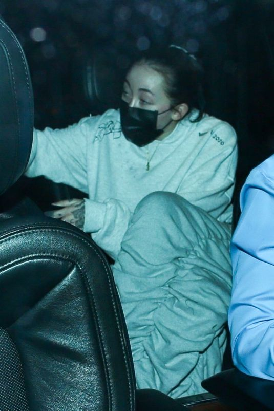 NOAH CYRUS at Bos Steakhouse in West Hollywood 03/06/2021