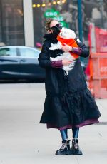 OLIVIA PALERMO Out with Her Dog in New York 03/01/2021