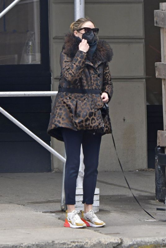 OLIVIA PALERMO Out with Her Dog in New York 03/17/2021