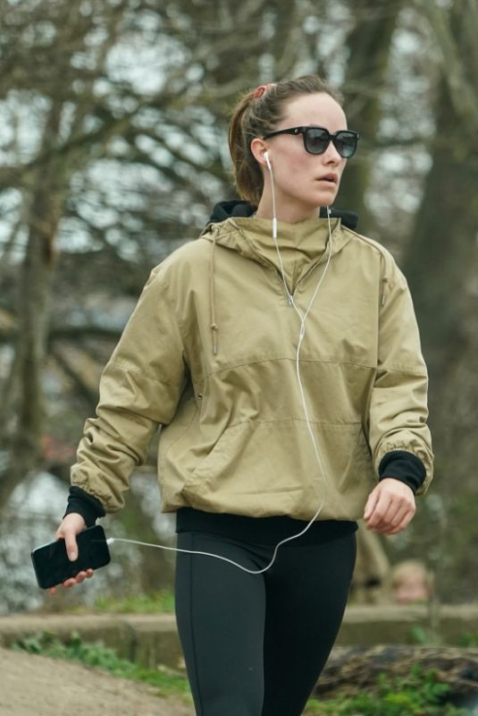 OLIVIA WILDE Out Hiking in London 03/15/2021