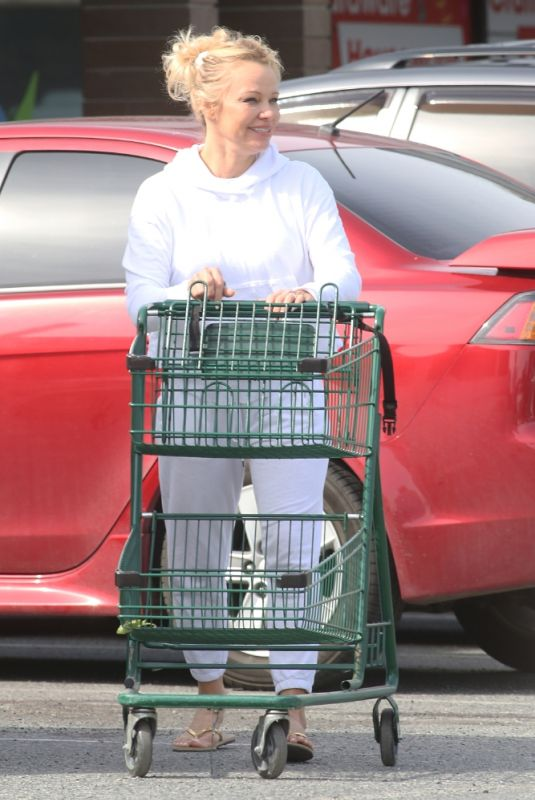 PAMELA ANDERSON Out Shopping in Ladysmith 03/19/2021