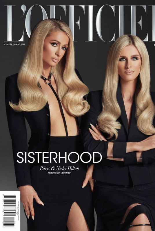PARIS and NICKY HILTON in L'Oficiel Magazine, Italy Spring 2021