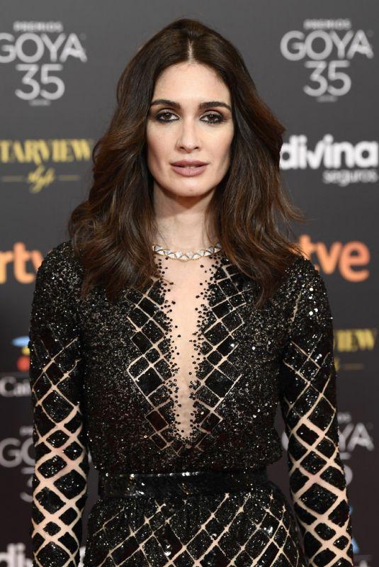 PAZ VEGA at Goya Cinema Awards 2021 in Malaga 03/06/2021