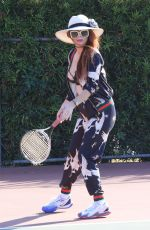 PHOEBE PRICE at a Tennis Court in Los Anegeles 03/04/2021